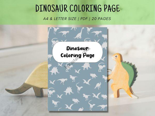 dinosaur coloring page for toddler
